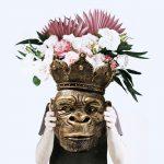 bloempot-aap-kong-goud